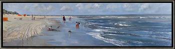 Branding 1 | zeegezicht schilderij in olieverf van Herman van Hoogdalem | Exclusieve kunst online te koop in de webshop van Galerie Wildevuur