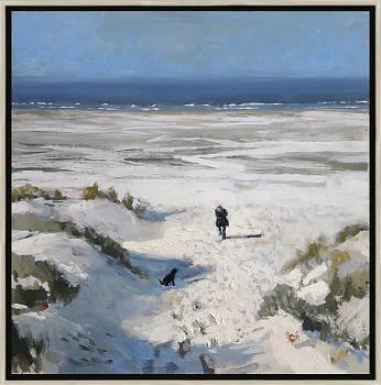 Duinovergang 3 | strandgezicht schilderij in olieverf van Herman van Hoogdalem | Exclusieve kunst online te koop in de webshop van Galerie Wildevuur