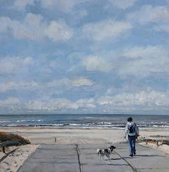 Dune passage 3 | beach painting in oil by Herman van Hoogdalem now for sale online! ✓Highest quality & service ✓Safe payment ✓Free shipping