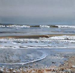 Branding 2 | zeegezicht schilderij in olieverf van Herman van Hoogdalem | Exclusieve kunst online te koop in de webshop van Galerie Wildevuur