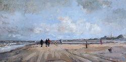 Herfstlicht | zeegezicht schilderij in olieverf van Herman van Hoogdalem | Exclusieve kunst online te koop in de webshop van Galerie Wildevuur