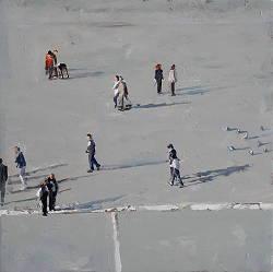 Plein 2 | stadsgezicht schilderij in olieverf van Herman van Hoogdalem | Exclusieve kunst online te koop in de webshop van Galerie Wildevuur