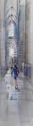 Barcelona | interieur schilderij in aquarel van Herman van Hoogdalem | Exclusieve kunst online te koop in de webshop van Galerie Wildevuur