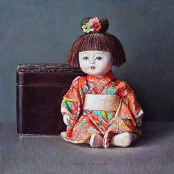"""East Indian Cherry <span class=""""subtitle"""">still life painting in oil by Ingrid Smuling 