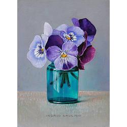Chinees popje in oude trommel | stilleven schilderij in olieverf van Ingrid Smuling koopt u nu online! ?Veilig betalen ?Gratis verzending