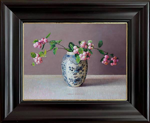 Geranium in Chinese potjes
