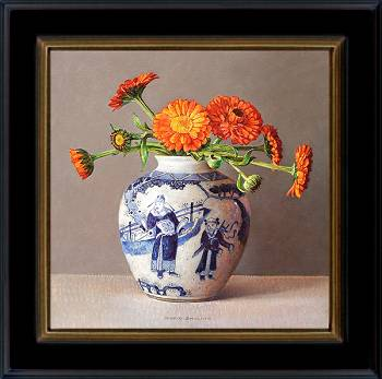 Marigolds | still life painting in oil by Ingrid Smuling now for sale online! ✓Highest quality & service ✓Safe payment ✓Free shipping