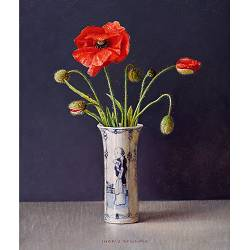 Poppies | still life painting in oil by Ingrid Smuling now for sale online! ?Highest quality & service ?Safe payment ?Free shipping