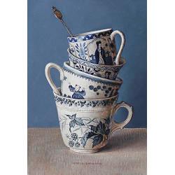 Klaprozen in Chinese vaas | stilleven schilderij in olieverf van Ingrid Smuling koopt u nu online! ?Hoogste service ?Veilig betalen ?Gratis verzending