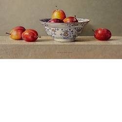 Plums in bowl | still life painting in oil by Ingrid Smuling now for sale online! ✓Highest quality & service ✓Safe payment ✓Free shipping
