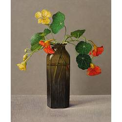 Nasturtiums tendrils | still life painting in oil by Ingrid Smuling now for sale online! ✓Highest quality & service ✓Safe payment ✓Free shipping