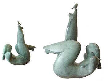 Lazy Sunday | bronzen beeld van een liggende vrouw van Jan de Graaf koopt u nu online! ✓Hoogste kwaliteit ✓Veilig betalen ✓Gratis verzending