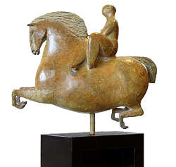 Lady Godiva | model sculpture in bronze by Jan de Graaf now for sale online! ✓Highest quality & service ✓Safe payment ✓Free shipping