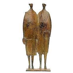 Paar | bronzen beeld van een echtpaar van Jan de Graaf | Exclusieve kunst online te koop in de webshop van Galerie Wildevuur