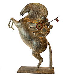 Heemskinderen VII | bronzen beeld van kinderen op een paard van Jan de Graaf | Exclusieve kunst online te koop in de webshop van Galerie Wildevuur