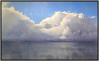 Wolkenmuur | zeegezicht in olieverf van Janhendrik Dolsma | Exclusieve kunst online te koop in de webshop van Galerie Wildevuur