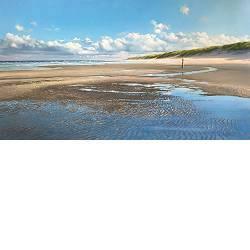 Strandpoel | zeegezicht in olieverf van Janhendrik Dolsma | Exclusieve kunst online te koop in de webshop van Galerie Wildevuur