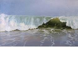 Omslaande golf | zeegezicht in olieverf van Janhendrik Dolsma | Exclusieve kunst online te koop in de webshop van Galerie Wildevuur