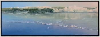 Strandpaaltje | zeegezicht in olieverf van Janhendrik Dolsma | Exclusieve kunst online te koop in de webshop van Galerie Wildevuur