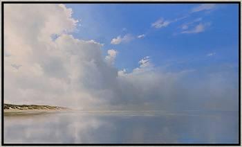 Doorbrekende zon | zeegezicht in olieverf van Janhendrik Dolsma | Exclusieve kunst online te koop in de webshop van Galerie Wildevuur