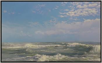 Eiland | zeegezicht in olieverf van Janhendrik Dolsma | Exclusieve kunst online te koop in de webshop van Galerie Wildevuur