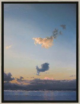 Avondwolkje | zeegezicht in olieverf van Janhendrik Dolsma | Exclusieve kunst online te koop in de webshop van Galerie Wildevuur