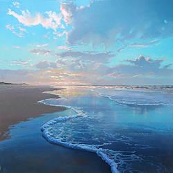 Groene golf | zeegezicht schilderij van Janhendrik Dolsma koopt u nu online! ✓Hoogste kwaliteit ✓Veilig betalen ✓Gratis verzending