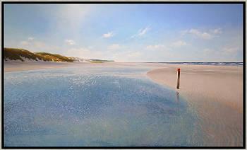 Strandtent | zeegezicht in olieverf van Janhendrik Dolsma koopt u nu online! ✓Hoogste kwaliteit & service ✓Veilig betalen ✓Gratis verzending