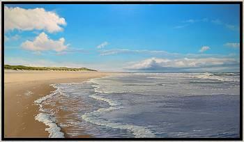 Regen in de verte | zeegezicht in olieverf van Janhendrik Dolsma koopt u nu online! ✓Hoogste kwaliteit ✓Veilig betalen ✓Gratis verzending
