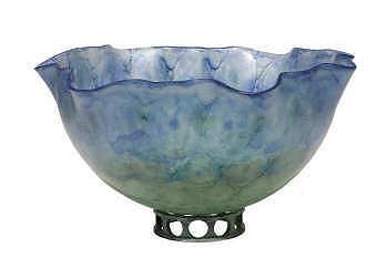 Mostapijt | glazen schaal op voetstuk van Jelle Leek | Exclusieve kunst online te koop in de webshop van Galerie Wildevuur
