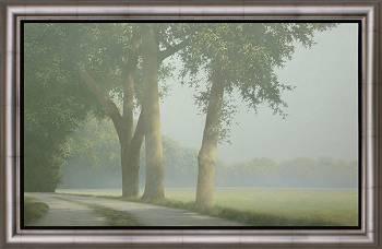 Aan de grens | schilderij van een landschap in acrylverf van Johan Abeling | Exclusieve kunst online te koop in de webshop van Galerie Wildevuur