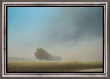 Oktober | schilderij van een landschap in olieverf van Johan Abeling | Exclusieve kunst online te koop in de webshop van Galerie Wildevuur