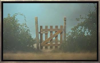 Ochtendmist | schilderij van een landschap in acrylverf van Johan Abeling | Exclusieve kunst online te koop in de webshop van Galerie Wildevuur