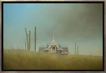 Namiddag | schilderij van een landschap in olieverf van Johan Abeling | Exclusieve kunst online te koop in de webshop van Galerie Wildevuur