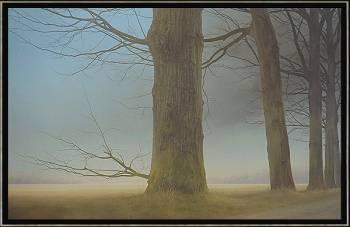 Kloosterkerk | schilderij van een landschap in olieverf van Johan Abeling | Exclusieve kunst online te koop in de webshop van Galerie Wildevuur