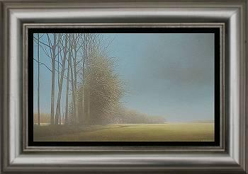 Langs de Aa I | schilderij van een landschap in olieverf van Johan Abeling koopt u nu online! ✓Hoogste kwaliteit ✓Veilig betalen ✓Gratis verzending