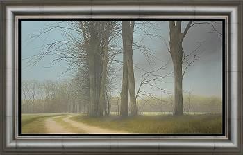 Voorjaar langs de Aa | schilderij van een landschap in olieverf van Johan Abeling koopt u nu online! ✓Veilig betalen ✓Gratis verzending