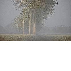 Oktober II | schilderij van een landschap in olieverf van Johan Abeling koopt u nu online! ✓Hoogste kwaliteit ✓Veilig betalen ✓Gratis verzending
