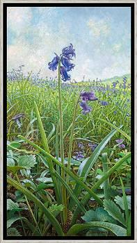 Bluebel | schilderij van een landschap in olieverf van Joke Frima | Exclusieve kunst online te koop in de webshop van Galerie Wildevuur