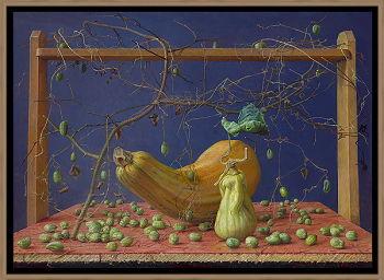 Hier en Elders | schilderij van een landschap in olieverf van Joke Frima | Exclusieve kunst online te koop in de webshop van Galerie Wildevuur