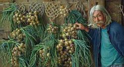 Onion Harvest | model schilderij in olieverf van Joke Frima | Exclusieve kunst online te koop in de webshop van Galerie Wildevuur