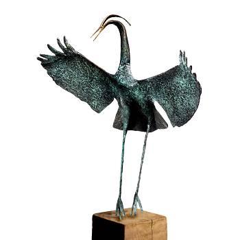 Dans van de kraanvogel | bronzen beeld van Leon Veerman koopt u nu online! ✓Hoogste kwaliteit & service ✓Veilig betalen ✓Gratis verzending