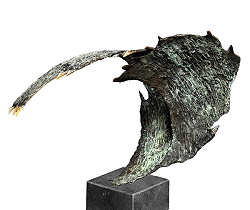 A wavy whole | animal sculpture in bronze by Leon Veerman now for sale online! ?Highest quality & service ?Safe payment ?Free shipping