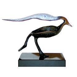 Busy I | bird sculpture in bronze by Leon Veerman now for sale online! ?Highest quality & service ?Safe payment ?Free shipping