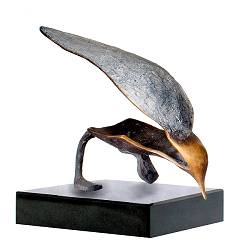 Busy III | bird sculpture in bronze by Leon Veerman now for sale online! ?Highest quality & service ?Safe payment ?Free shipping
