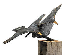 The 2nd flying lesson | animal sculpture in bronze by Leon Veerman now for sale online! ?Highest quality & service ?Safe payment ?Free shipping