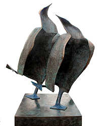 Dancing together | animal sculpture in bronze by Leon Veerman now for sale online! ?Highest quality & service ?Safe payment ?Free shipping