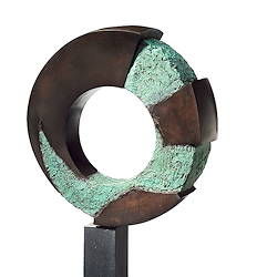 Symbiosis | circle sculpture in bronze by Leon Veerman | Exclusive Dutch Master Art | View and buy the best artworks online now