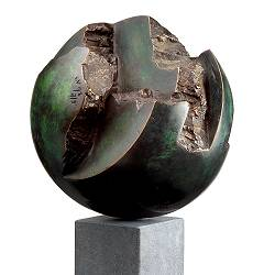 Torn landscape | nature sculpture in bronze by Leon Veerman now for sale online!Highest quality & serviceSafe paymentFree shipping