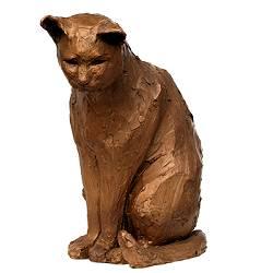 Big cat | animal sculpture in bronze by Maja van Berkestijn now for sale online! ✓Highest quality & service ✓Safe payment ✓Free shipping